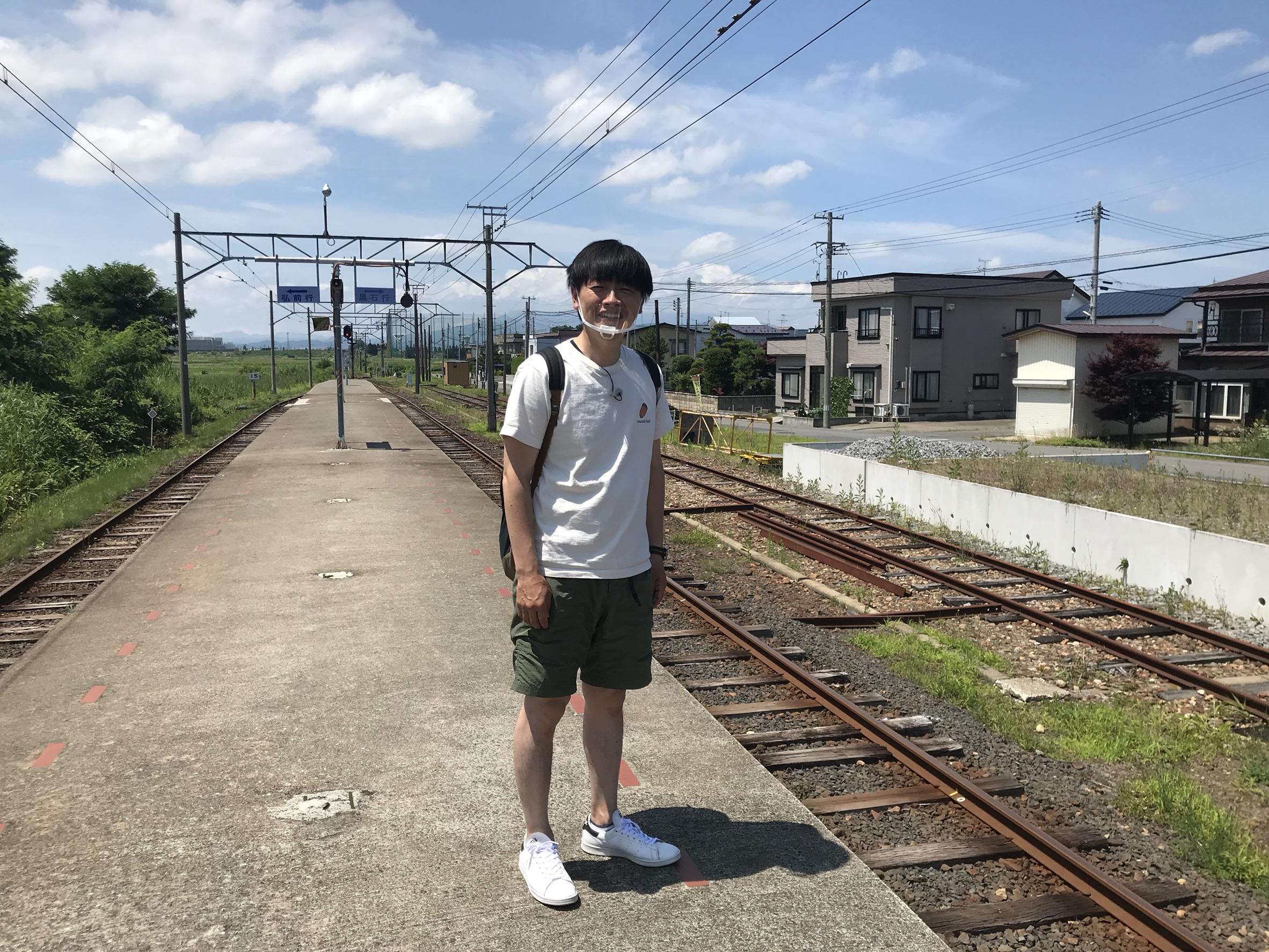 本日ジップフライデーロケ弘南鉄道で途中下車の旅